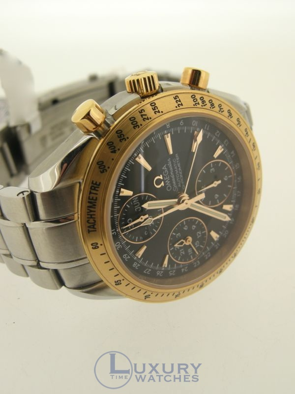 omega speedmaster date two tone Find great deals on omega speedmaster moon silver dial with silver-tone hands and index hands and markers date display at the 3 o'clock position two - 60.