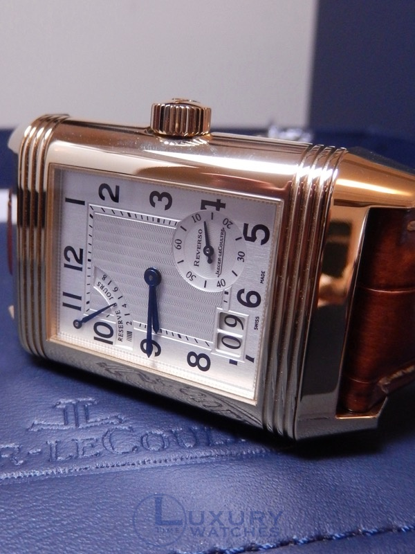 Jaeger Lecoultre Reverso Grande Date 8 day Yellow Gold
